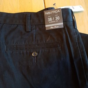 NEW! Nautica Flat Front Trousers 38x30 Classic Fit
